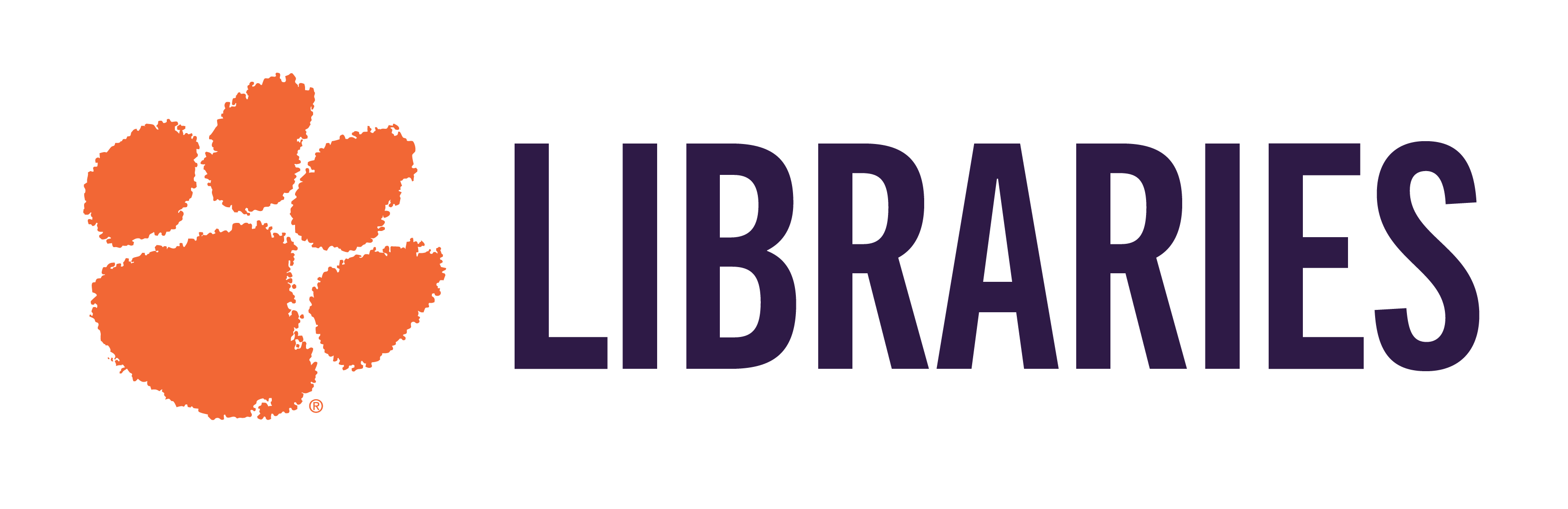 Libraries Logo with the Tiger Paw