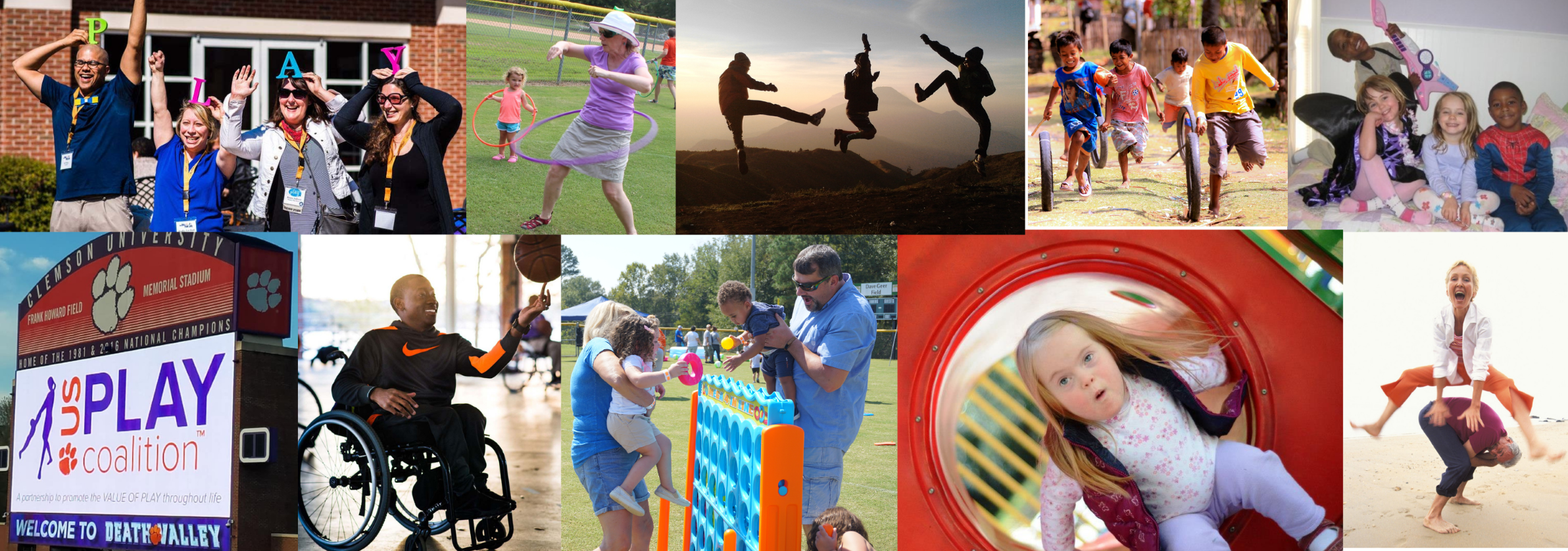 US Play Co - Collage of Event Photos with Adults and Children